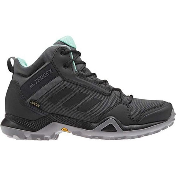 815a2f93b3477 Shop adidas Women s Terrex AX3 Mid GORE-TEX Hiking Shoe Grey  Five Black Clear Mint - Free Shipping Today - Overstock - 26877998