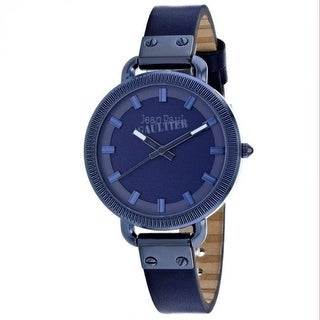 Link to Jean Paul Gaultier Women's 8504313 'Index' Blue Leather Watch Similar Items in Women's Watches