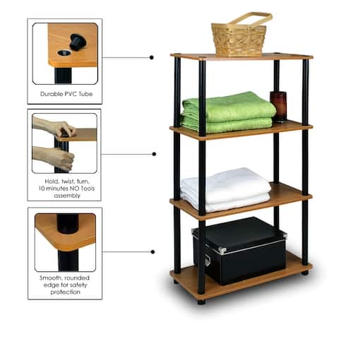 Porch & Den St. Marks 4-tier Multipurpose Shelf Display Rack