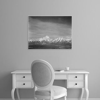 Easy Art Prints Ansel Adams's 'Tetons from Signal Mountain' Premium Canvas Art