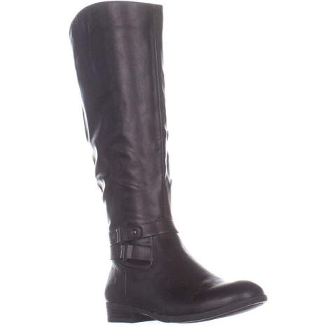 Style & Co. Womens Kindell Almond Toe Knee High Riding Boots