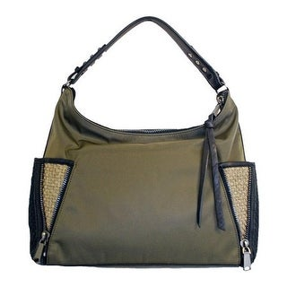 Shop Bernie Mev Women s BM33 Large Pocket Hobo Olive Nylon Bronze - us  women s one size (size none) - On Sale - Free Shipping Today - Overstock.com  - ... fc6c511f9f