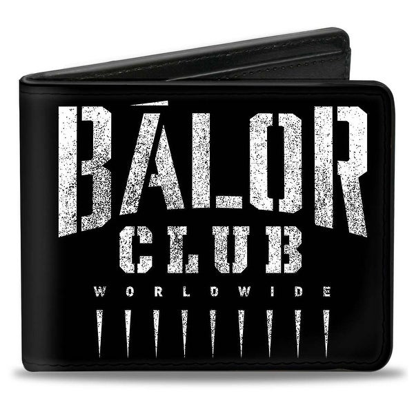 Finn Balor Club Worldwide + Bc Icon Weathered Black White Bi Fold Wallet - One Size Fits most
