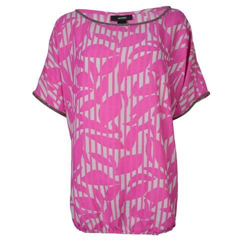 Alfani Women's Beaded Chiffon Bubble Blouse - Petunia Pink - 2