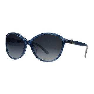 Salvatore Ferragamo SF645/S 410 Blue Tortoise Round Sunglasses - 58-16-135