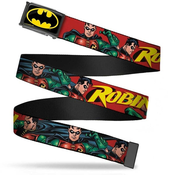 Batman Fcg Black Yellow Chrome Robin Red Green Poses Red Webbing Web Web Belt