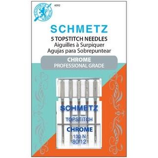 Chrome Topstitch Machine Needles-Size 80/12 5/Pkg - size 80/12 5/pkg