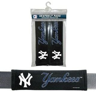 Fremont Die Inc New York Yankees Seat Belt Pad 2 Pack Seat Belt Pad