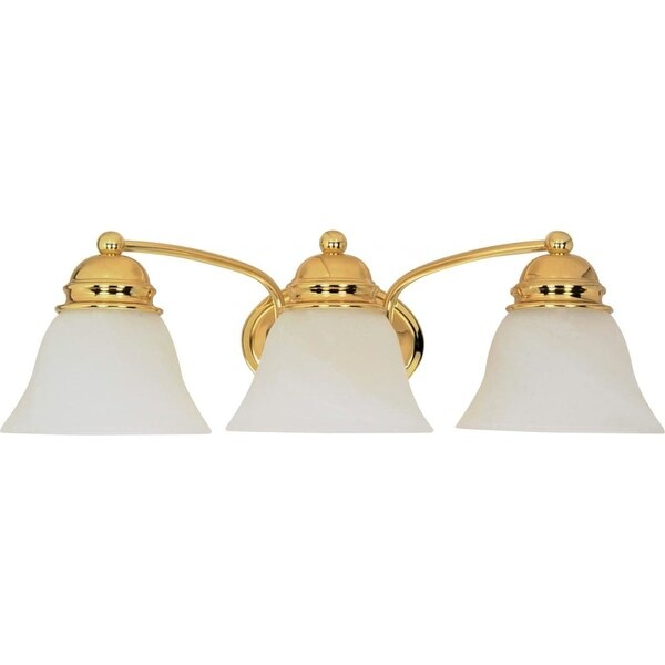 """Nuvo Lighting 60/350 Three Light Reversible Lighting 20.5"""" Wide Bathroom Fixture from the Empire Collection - Polished brass"""