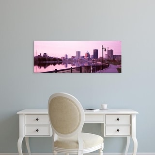 Easy Art Prints Panoramic Image 'Buildings at the waterfront, Genesee, Rochester, Monroe County, New York' Canvas Art