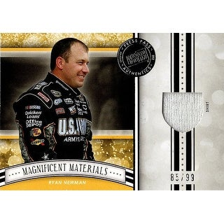 Signed Newman Ryan Ryan Newman 2012 Press Pass Magnificent Materials NASCAR Insert Card 8599 autogr