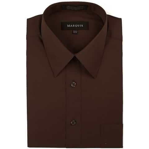 Classic Regular Fit Long Sleeve Point Collar Dress Shirt