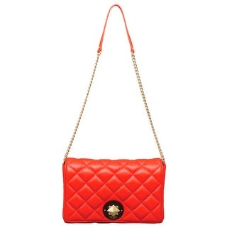 Kate Spade Gold Coast Meadow Leather Shoulder Bag in Maraschino