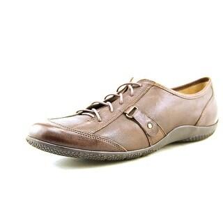Walking Cradles Dara W Round Toe Leather Sneakers