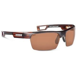 Hobie Eyewear Manta Sunglasses Satin Brown Wood Grain Polarized Copper Lens