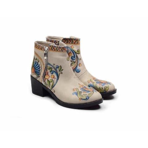 Floral Short Boots