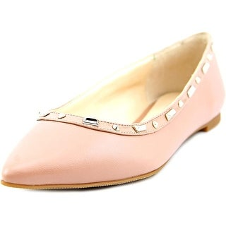 INC International Concepts Zabbie Women  Round Toe Leather Pink Ballet Flats
