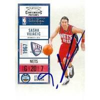 Sasha Vujacic autographed Basketball Card (New Jersey Nets) 2011