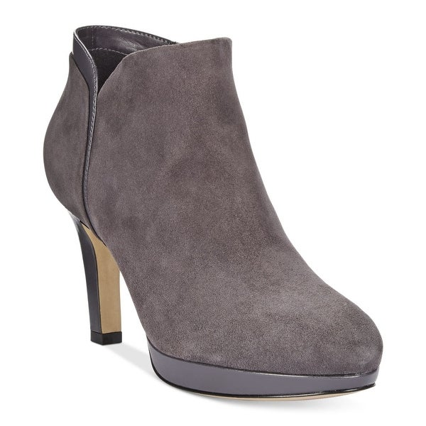 CLARKS Womens Delsie Stella Almond Toe Ankle Fashion Boots
