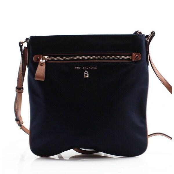 3d2a4dbedec8 Shop Michael Kors NEW Admiral Blue Nylon Kelsey Large Crossbody Bag ...