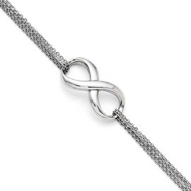 Chisel Stainless Steel Polished Infinity Symbol Bracelet