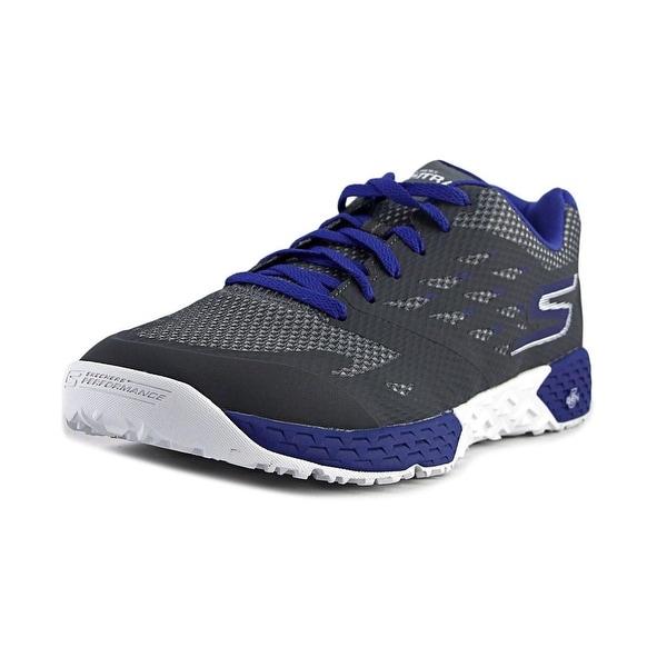 Skechers Go Train-Endurance Men Charcoal/Blue Cross Training Shoes