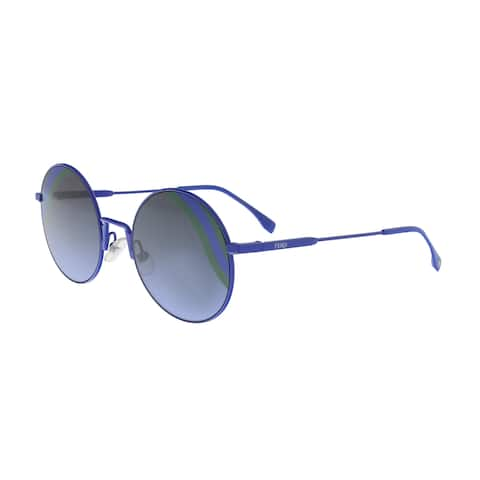 21136d2d2a9a3 SALE. FENDI FF 0248 S 0PJP Blue Round Sunglasses - No Size