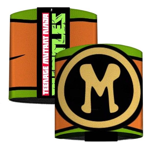 Michelangelo Belt Logo Green Orange Black Yellow Elastic Wrist Cuff