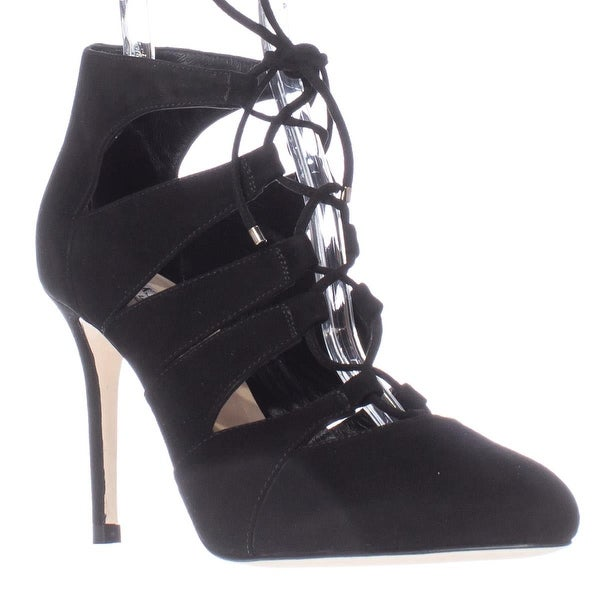 L.K. Bennett Honor Caged Lace Up Heels, Black - 8.5 us / 38.5 eu