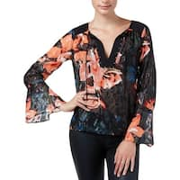 Guess Womens Blouse Printed Embellished