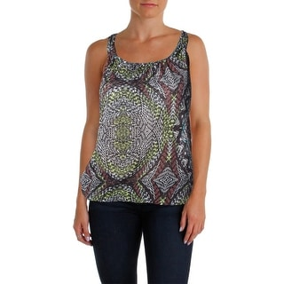 Belle du Jour Womens Juniors Tank Top Knit Printed