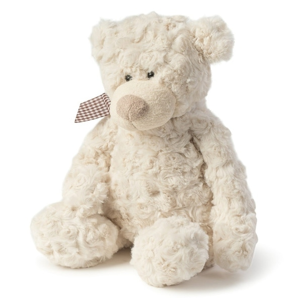 Freddy Rosy Plush Teddy Bear, Cream