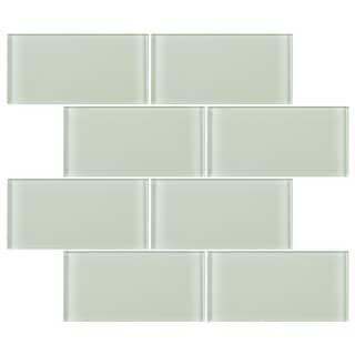 """Link to TileGen. 3"""" x 6"""" Glass Subway Tile in Mint White Wall Tile (80 tiles/10sqft.) Similar Items in Tile"""