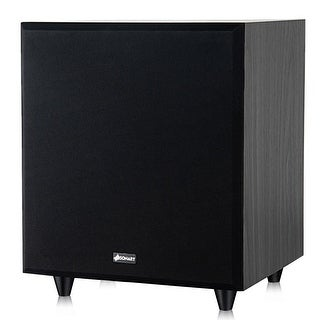 Sonart 10'' 400W Powered Active Subwoofer Front-Firing Woofer Surround Sound Theater - black