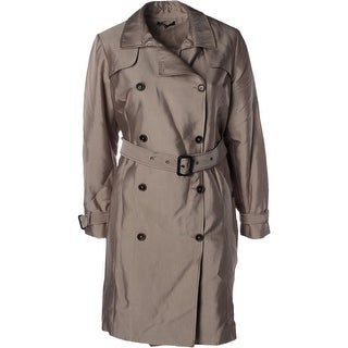 Mynt 1792 Womens Plus Trench Coat Double Brested Lined