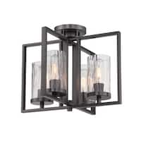 Designers Fountain 86511 Elements 4-Light Semi-Flush Ceiling Fixture - Charcoal - n/a