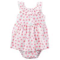 Carter's Baby Girls' Heart Sunsuit