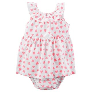 Carter's Baby Girls' Heart Sunsuit