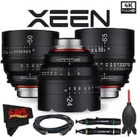 Rokinon Xeen 24mm T1.5 Lens for PL Mount + Rokinon Xeen 50mm T1.5 Lens for PL Mount + Xeen 85mm T1.5 Lens for PL Mount Bundle