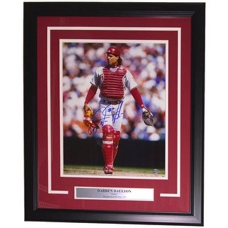 Darren Daulton Signed Framed Philadelphia Phillies 11x14 Photo SI