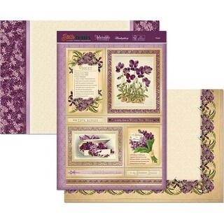 February-Violet - Hunkydory Birth Flowers A4 Topper Set