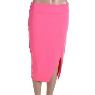 Lucy Paris Womens Asymmetric Knee-Length Pencil Skirt - S