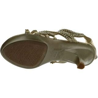 Fabulous Angel 41K Little Girls Rhinestone Heel Platform Dress Sandals Silver