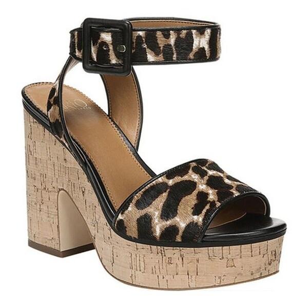 017d066fdac4 Sarto by Franco Sarto Women's Franny Platform Sandal Black Motley  Leopard Hair