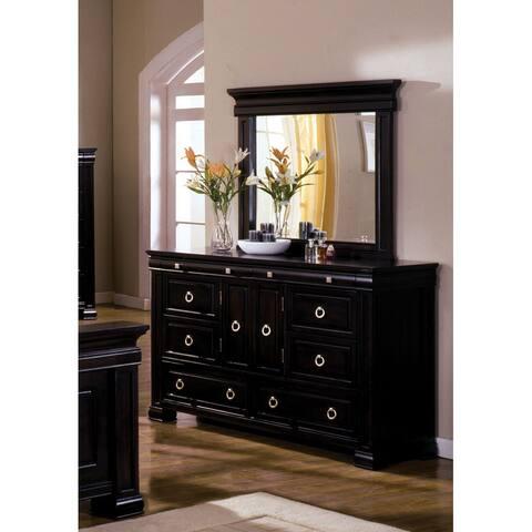 Furniture of America Hiaz Rustic 2-piece Dresser and Mirror Set