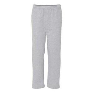 Gildan Heavy Blend Open Bottom Sweatpants with Pockets - Sport Grey - L