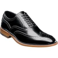 Stacy Adams Men's Dunbar Wingtip Oxford Black Leather