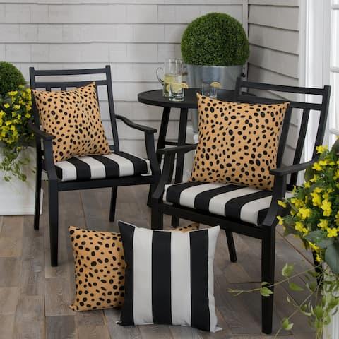 "Tuxedo Stripe Seat Cushion Square 2 Pack (Slab) 18.5""x16""x3"""