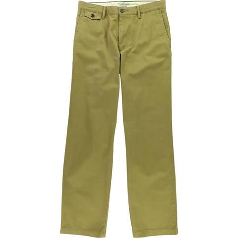 Dockers Mens Pacific Straight Fit Casual Chino Pants, Beige, 31W x 32L - 31W x 32L