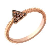 Prism Jewel 0.07Ct Round Cognac Diamond Triangle Shaped Fancy Ring